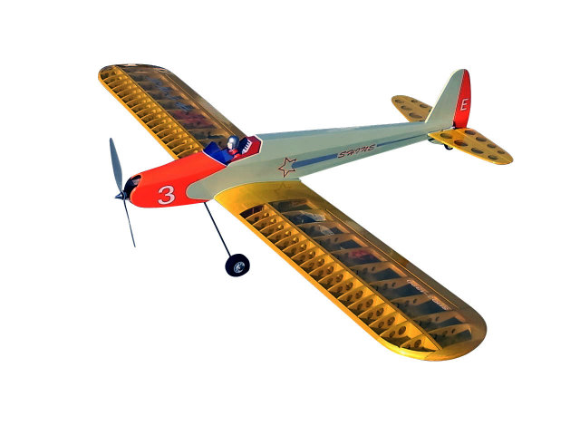 シャインSH03-1320E低翼エルロン練習機