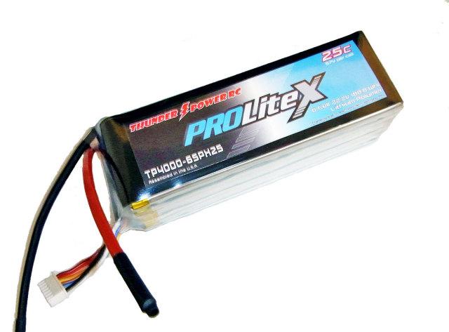 TP 22.2V4000mAh ProLite X 25C リポ (TP4000-6SPX25)